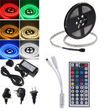 5M SMD RGB 5050 Waterproof Color change LED Strip light+controller Power Adapter