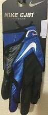 NWT MN ADULT SKILL NIKE GF0220 401 CJ81 CALVIN  JOHNSON FOOTBALL GLOVES BLUE $70