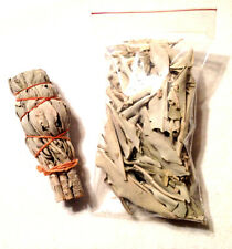 SACRED WHITE SAGE SMUDGE STICK OR BAG OF LOOSE SAGE WITH INSTRUCTIONS