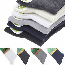5 Pairs Men Business Solid Bamboo Fiber Breathable Casual Dress Socks Wholesale!