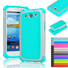 Heavy Duty Impact Rugged Rubber Hard Case Cover For Samsung Galaxy S3 III i9300