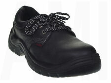 MENS BLACK MASTER SAFETY TRAINERS PROTECTIVE TOE CAP WORK SHOES SIZE