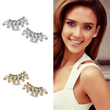 Lady Fashion Women Girls Elegant Crystal Rhinestone Ear Stud Earrings 1 Pair