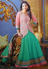 Embroidered Anarkali Salwar Kameez Semi Stitched Georgette Suit Bollywood Wear