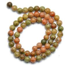 4mm Round Autumn Jasper Stone Loose Spacer Beads Gemstone 15inch Strand
