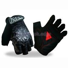 Spider Pattern Motorcycle Cycling Bike Mountain Bicycle Half Finger Gloves M-XL