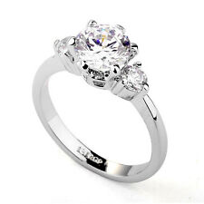 Fashion Jewelry - 18K White Gold Plated CZ Ring (FR217)