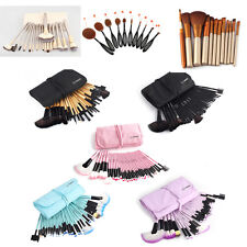 32/10Pcs Beauty Eyebrow Shadow Eyeliner Soft Makeup Brushes Set Kit + Pouch Bag