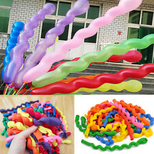 10/50/100PCS Spiral Latex Balloons DIY Birthday Party Wedding Decor Mixed Color