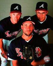 Atlanta Braves Glavine, Maddux, Smoltz MLB Licensed Photos (Select Player/Size)