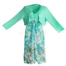 Womens Floral Summer Beach Dresses Loose Long Strappy Dress Long Sleeve Top Plus