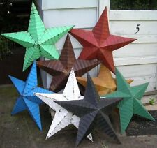 "authentic AMISH BARN TIN STAR primitive rustic 48"" MANY COLORS red black white"
