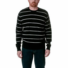 Republic Men's 100% Cotton Striped Crewneck Pullover Sweater