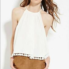 New Womens Ladies Sexy Sleeveless Tassels Tank Top Blouse Shirt