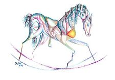 Rocking horse print 'Divine' by Jessica Hill A5 WAS £10.00 !!