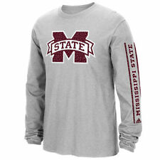 Mississippi State Bulldogs adidas Play Long Sleeve T-Shirt - Heathered Gray