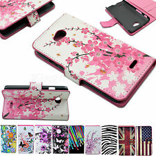 Wallet Flip Leather Card Holster Case Cover For  LG Optimus Mobile Cell Phones