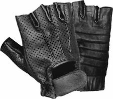 Men's Perforated Fingerless Glove w/ Gel Palm