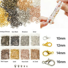New 50/100Pcs Silver/Gold/Bronze Lobster Claw Clasps Hooks  DIY 10/12/14/16mm