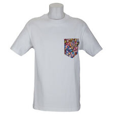 SP Quiet Life Clothing Jewel Pocket T-Shirt White Liberty Fabric skate
