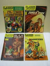 Classics Illustrated The Three Musketeers Jungle BookThe Pioneers Comic Lot  T*