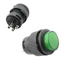 20 pc R16-503BD 4 Pin 16mm Push On Non-Locked Button Switch 250V Light Green
