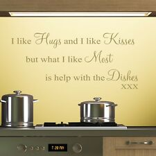 I Like Hugs - Wall Decal Art Sticker kitchen lounge living room bedroom