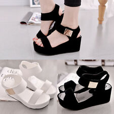 Graceful Lady Causal Muffin Fish Head Sandals Open Toe Sandals Platform Shoes