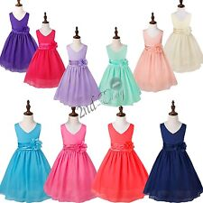 Flower Girls Kids Bridesmaid Wedding Formal Party Ball Gown Prom Princess Dress