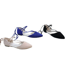 BOLARO SF6104 Women's Pointed Toe Strappy Flat Sandals BLACK;NAVY;PEACH