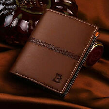 Billfold Slim Clutch Mens Leather Bifold ID Card Holder Wallet Handbag New Gifts