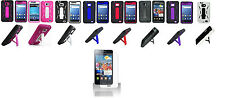Screen Protector + Armor Hybrid Cover Case for Samsung Galaxy S II 2 SGH-i777