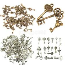50pcs New Alloy Assorted Skeleton Key Pendants Charms Jewelry Making