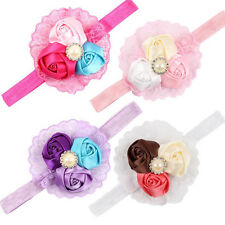 Lace Rose Flower Pearl Headband Baby Girl Toddler Hair Band Hair Accessories