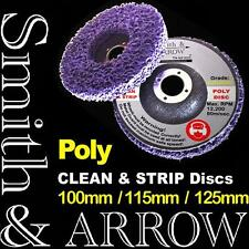 """2x 115mm 4.5"""" POLY STRIP DISC WHEEL PAINT RUST REMOVAL CLEAN ANGLE GRINDER DISK"""