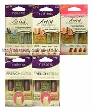 *NAILENE* 3pc Set NAIL POLISH French Glitz+Artist GLITTER+SHIMMER *YOU CHOOSE*