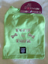 Any Size - Petrageous - Born To Bark - Dog Puppy Shirt - Green with Foil print