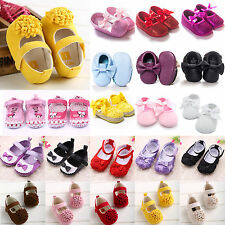 Princess Pram Shoes Baby Girls Soft Sole Non-slip Toddler Trainers Prewalkers