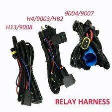 Aliens Relay Wiring Harness Hi/Low Beam HID Xenon Kit For 9004/9007 H4 H13/9008
