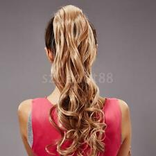 Fashion Girl Ponytail Clip In On Hair Extension Wavy/Straight Hair Style