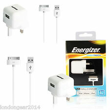 Genuine 3 Pin 2.1Amp Mains Charger Adapter Wall Plug For iPhone 4,4S,iPad 2 , 3