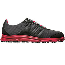 FootJoy SuperLites CT Golf Shoes Black/Grey/Red 58123 Closeout Mens Spikeless