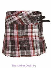 Ladies Womens Check Mini Skirt Pleated Tartan Billie Kilt Mini Skirts