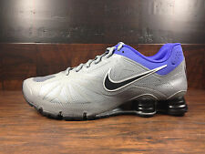 Nike Shox Turbo 14 (Grey/Black/Violet) Running [631760-018] Mens Sz 7.5 - 13