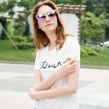 Women Fashion Retro Cat Eye Personality Metal Frame Sunglasses Outdoor Shades