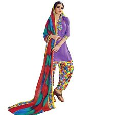 Ready To Wear French Crepe Printed Salwar Kameez Suit Indian Dress-Milly-3013