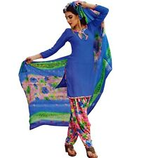 Ready To Wear French Crepe Printed Salwar Kameez Suit Indian Dress-Milly-3005