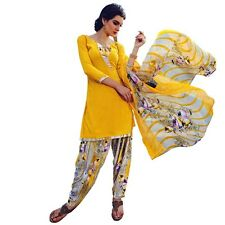 Ready To Wear French Crepe Printed Salwar Kameez Suit Indian Dress-Milly-3004