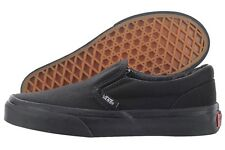 Vans Classic Slip-On VN000ZBUENR Black Canvas Skate Casual Shoes Medium Youth