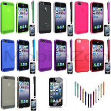 Ultra-Thin Clear Soft Gel Phone Case Cover For Apple Mobile Phones iPhone 5 5S